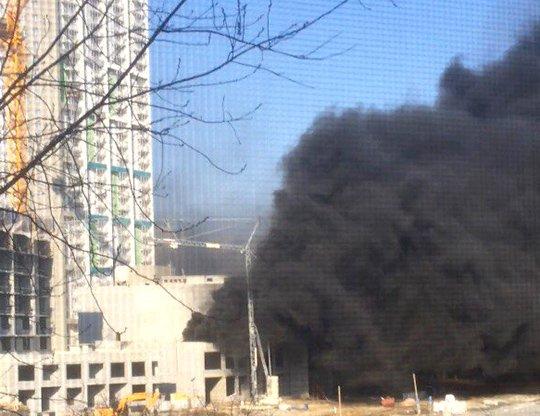 В Екатеринбурге горел «Московский квартал»