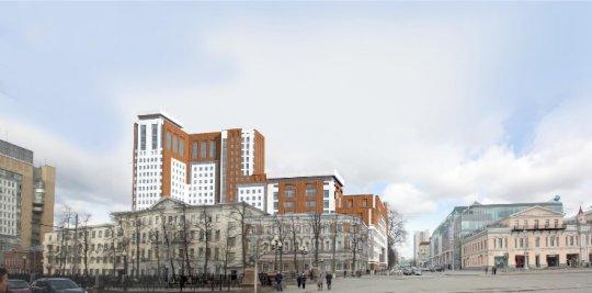 Проект здания ФСБ в Екатеринбурге вновь вынесли на градсовет