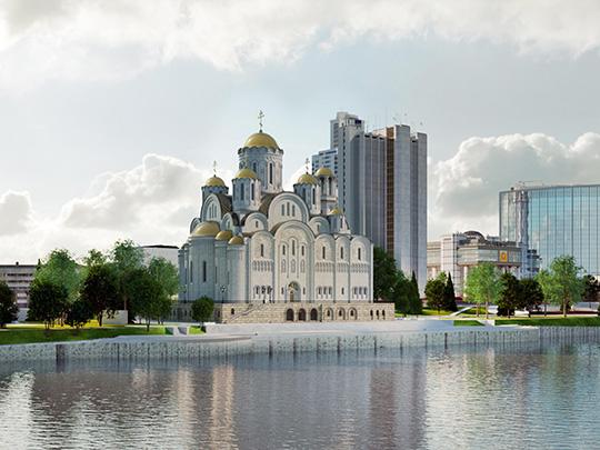 Сквер у Драмтеатра достался «Храму святой Екатерины»