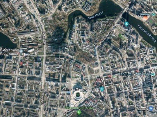 Фрагмент скриншота сервиса Google.Maps