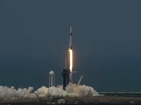 Кадр трансляции с YouTube-канала NASA